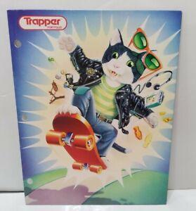 Vintage Mead Trapper Portfolio 3 Ring Folder Skateboard Cat 80's 9.5x12