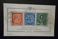 """POLONIA  POLAND, POLSKA 1946"""" Ufficio Internazionale Educazione"""" 1 Foglietto US"""