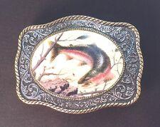 Franklin Mint Sportsman Fish Belt Buckle By R. Fields*Free Usa Ship*