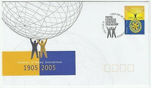 2005 FIRST DAY COVER FDC 'CENTENARY OF ROTARY INTERNATIONAL' - GREAT CONDITION