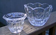 """~ Lot of 2 ~ Vintage 24% Lead CRYSTAL Bowls VASES Collectible 4.25"""" & 3"""" tall"""