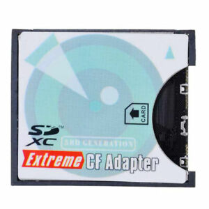 SD to CF Card Adapter SDHC SDXC to 3.3mm Standard Compact Flash Memory Converter