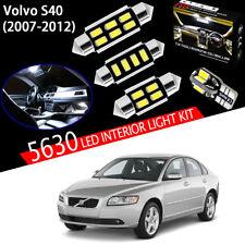 16pcs Xenon White 5630 LED For Volvo S40 2007~2012 Full Interior Light Package