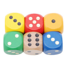 6Pcs Wooden Yard Dice Set Camping Family Sports Games Tailgating Outdoor Shan