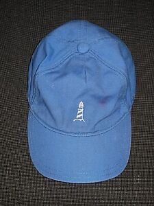 JANIE & JACK LIGHTHOUSE BLUE 100% COTTON BASEBALL HAT CAP BOYS TODDLER 2T 3T