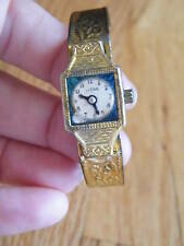 Vintage ~ Japan Toy Watch ~ Tin? Gold Colored Childs