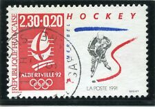 STAMP / TIMBRE FRANCE OBLITERE N° 2677 JO ALBERVILLE HOCKEY