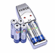 6x AA 3000mAh 1.2 V Ni-MH rechargeable battery BTY cell for MP3 RC Toy+ Charger