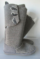 Authentic BEARPAW Gray Sweater Knit Winter Boots Sz 7