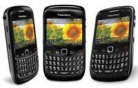 Blackberry Curve 8520 Black Mobile Phone Smartphone Qwerty Unlocked Grade A