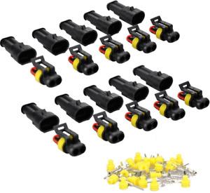 10 Set 5 Kit Car 2 Pin Way Superseal Waterproof Electrical Terminal Wire Plug