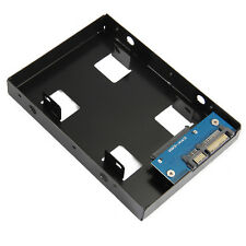 "NEW 2.5 HDD/SSD to 3.5"" SATA Hard Drive Disk Converter Adapter Mounting Bracket"