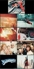 SUPERMAN THE MOVIE set of 9 Lobby Cards Posters 8x10 CHRISTOPHER REEVE 1978 NM