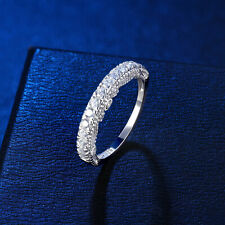 Eternity Ring Wedding Band For Women 0.5ct Round Cz 925 Sterling Silver Sz 5-10