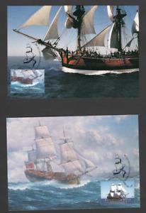 Australia Postal/Maxi Card 1995 Endeavour Replica Set of 2
