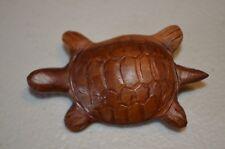 Herb Burgess Signed Turtle Wood Carved Primitive Folk Art Brooch Pin VTG 60s 70s