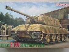 Dragon 6011 German E 100 Super Heavy Tank 1:35 Neu und eingetütet