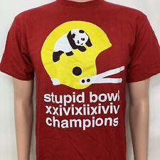 2000's Enjoi Panda Stupid Bowl Champions Graphic Logo Skateboard T Shirt Medium