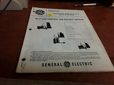 General Electric SCR Operating & Maintenace Instructions Manual