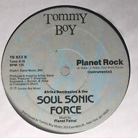 Afrika Bambaataa Planet Rock Vinyl Record Original 1982 Pressing TB-823