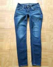 American Eagle Outfitters Womens Jeans Sz 4R Jegging Supet Stretch Skinny Ankle