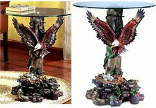 Beautiful! ** SCULPTED DRAMATIC EAGLE  ACCENT, END, SIDE OR NIGHT TABLE ** NIB