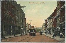 View on State Street in Ithaca NY Postcard 1919