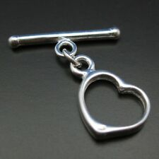 925 STERLING SILVER TOGGLE CLASP - Heart Shape -12mm