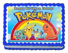 "POKEMON Party Edible image Cake topper decoration 7.5""x10"" - personalized free!"