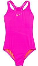 NEW NIKE GIRL'S CORE SOLID RACERBACK ONE PIECE SWIMSUIT SZ 14