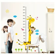 Giraffe Measuring Height Ruler Wall Sticker Removable Bedroom Sticker For Kids