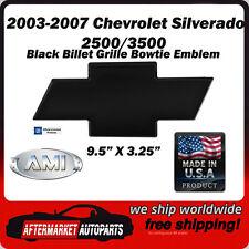 03-07 Chevrolet Silverado 3500 Black Powder Coat Bowtie Grille Emblem AMI 96183K