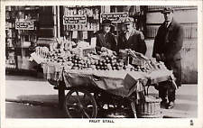 London Life. Fruit Stall by Tuck. Postcard # 3714.