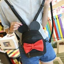 Cute Bowtie Backpack Mini Design Women Girl Small With Ears Adjustable Travel