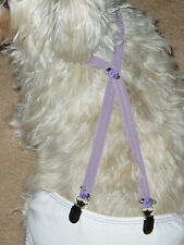 DOG-SUSPENDERS-PET-DIAPER-ACCESSORIES--DUSTY PURPLE--CUSTOM MADE SMALL SIZES