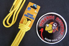 "Yellow Thin Round 54"" x (1/8""-3/8"") JN Shoelaces Shoe Strings Piranha Records"