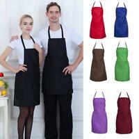 Cooking Kitchen Restaurant Chef Adjustable Bib Apron Dress with Pocket Men Women