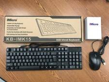 iMicro USB Wired Keyboard w/ Wired Mouse - KB-IMK15
