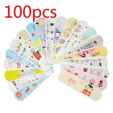 CO_ 100Pcs Cartoon Waterproof Bandage Band-Aid Hemostatic Adhesive For Kids Baby