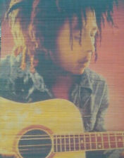 Bob Marley Guitar Jamaican Reggae Rasta Music Window Door Bamboo Blind Shade New