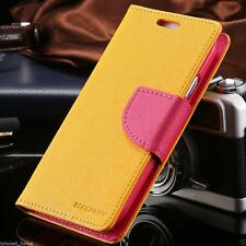 for iPhone 7 Plus Genuine Mercury Goospery Yellow Folio Flip Case Wallet Cover