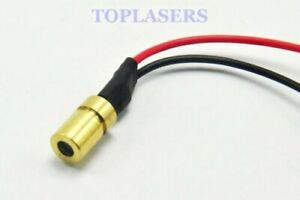 Mini Brass 3mW 780nm Near-Infrared IR Laser Diode Dot Moudle 6x10mm DC3V