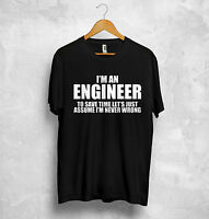 I'm An Engineer T Shirt Birthday Student Father Dad Mechanic Grandfather Gift