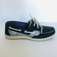 Sperry Top-sider Koifish Women's Size 6M Boat Shoe, Navy Sparkle Leather Linen