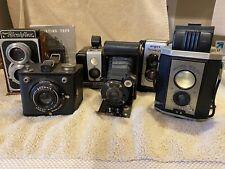 Lot of 6 Antique / Vintage Cameras Kodak, Ricohflex, Argus