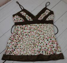 XOXO Collection Womens Size S 100% Polyester White, Pink, Brown & Blue Camisole