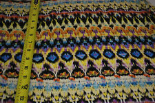 Rayon Stretch Jersey Knit Fabric  Beautiful tribal print yellow purple  combo