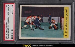 1959 Parkhurst Canadiens on Guard #1 PSA 8 NM-MT