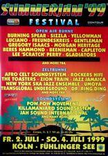 SUMMER JAM - 1999 - Konzertplakat - Freundeskreis - Gentleman - Reggae - A