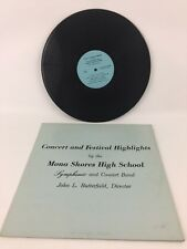 Concert & Festival Highlights By Mona Shores High School Band LP Record 1964-65